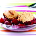 Pear & berry cobbler