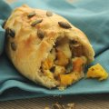 Twisted pasties with pumpkin & pear