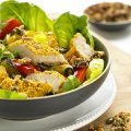 Super seeded turkey salad with tamari dressing