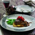 Beef fillets with wild mushrooms & armagnac sauce
