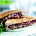 Croque monsieur with cranberry & caramelised red onion chutney