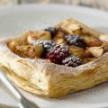 Apple & blackberry square tart