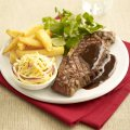 Steak with Bourbon & Black sauce