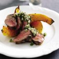 Griddled neck of lamb with roasted winter squash
