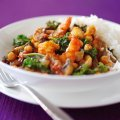 Prawn & kale madras curry