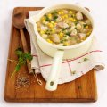 Chunky chicken, potato & sweetcorn soup