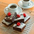 Chocolate, rum & raisin brownies