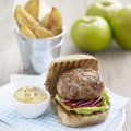 Bramley burgers with apple sauce