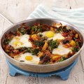Gino D'Acampo's flamenco eggs with Bellaverde broccoli