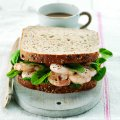 Prawn mayonnaise with Tabasco sauce sandwich