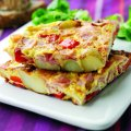 Oak smoked ham & pepper fritatta
