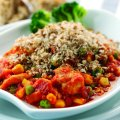 Chicken & tomato crumble
