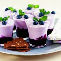 Blueberry compote with vanilla custard topping