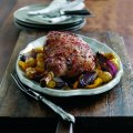 Roast lamb with sweet chilli glaze