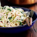 Prawn and courgette linguine