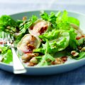 Roasted goat's cheese salad with toasted hazelnuts & blueberry dressing