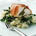 Parma wrapped cobia with spinach mash