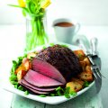 Roast beef with lemon & anchovy butter