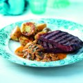 Steaks with shallot & mushroom sauce