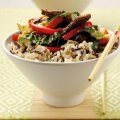 Chinese beef stir fry with wholegrain rice