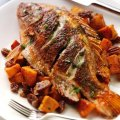 Cajun roasted tilapia with sweet potatoes