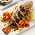 Grilled lemon & herb tilapia with avocado salsa