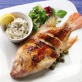 Pan-fried tilapia with capers & tartare sauce