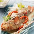 Poached Thai tilapia with jasmine rice