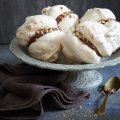 Hazelnut coffee meringues