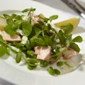 Jo Pratt's poached salmon salad