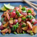 Stir fried radishes & coriander