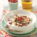 Mixed spice muesli with a trio of toppings