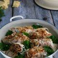 Chicken roulades with spinach & cheese stuffing