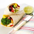 Beverley Glock's fajitas with broccoli