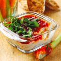 Chilli jam, cream cheese & coriander dip