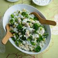 Tom Aikens' lime & coriander chicken & Tenderstem rice salad
