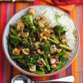 Levi Roots' Tenderstem broccoli, cashew & tofu stir-fry