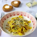 Pappardelle of shallots, wild mushrooms & tarragon