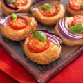 Tomato & red onion galettes