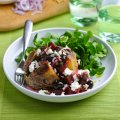 Baked potato filled with traditional beetroot, feta & mint salad