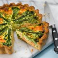 Tenderstem broccoli & smoked salmon tart
