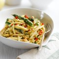 Asparagus & crab linguine, with a parsley & lemon butter sauce