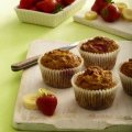 Strawberry & banana muffins