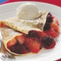 Blackberry & Bramley apple pancakes