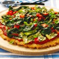 Vegetable & salsa verde scone pizza