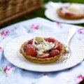 Sophie Michell's strawberry & goat's cheese tart