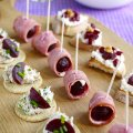 A trio of quick beetroot canapes