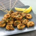 Madras marinated prawns