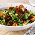 Spiced sausage salad