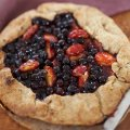 Easy plum & bilberry pie
